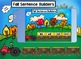 Fall Sentence Builders for Smartboard Set 2 Primer Dolch Words