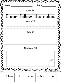 Fall Sentence Builders {morning work, word work, daily 5, & centers}