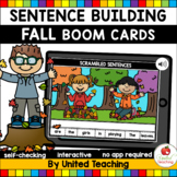 Fall Sentence Building (Boom Cards) (Distance Learning)
