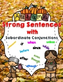 Fall Sentence Building with Subordinate Conjunctions (Hoch
