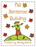 Fall Sentence Building!