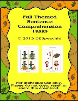 Fall Sentence Comprehension Tasks