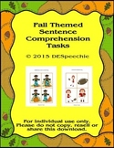 Fall Sentence Comprehension Tasks