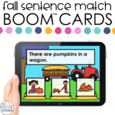 Fall Sentence Match Boom™ Cards - Distance Learning for Sp