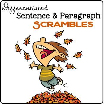 Fall Sentence & Paragraph Scrambles