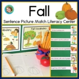 Fall Sentence Picture Match Reading Center