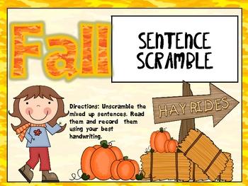 Fall Sentence Puzzles