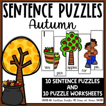 Sentence Building Puzzles Fall