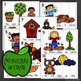 Sentence Building Puzzles and Worksheets for Fall