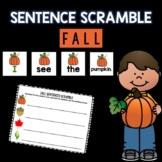 Fall Sentence Scramble
