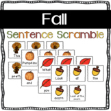 Fall Sentence Scramble