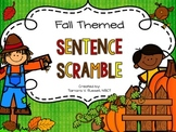Fall Sentence Scramble for Emergent Readers {Freebie}