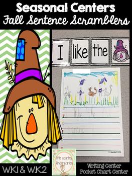 Sentence Scrambles: Fall Kinder Writing Center