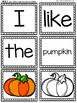 Mixed Up Sentences: Fall Kindergarten Writing Center