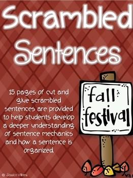 Fall Sentence Scrambles and Fix-its!