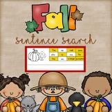 Fall Sentence Search Freebie