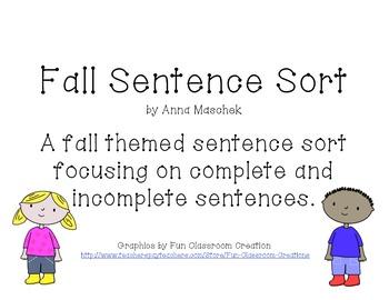 Fall Sentence Sort