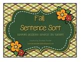 Fall Sentence Sort Activity - {Freebie}