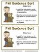Fall Sentence Sort: Literacy Center Activity
