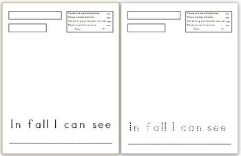 Fall Sentence Starters Pack (18)! Differentiated versions!