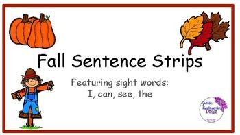 Fall Sentence Strips