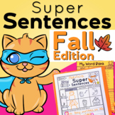 Sentences Writing for Fall and Sentence Structure Practice Differentiated