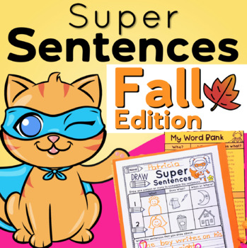 Sentence Writing for Fall and Sentence Structure Practice Differentiated