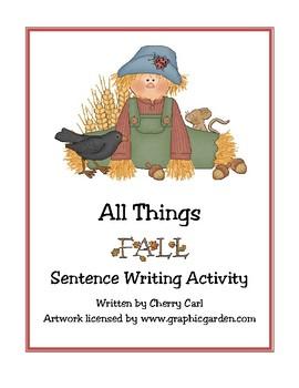 Fall Sentence Writing Activity