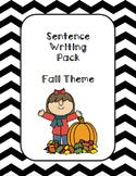 Fall Sentence Writing Bundle