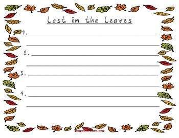 Fall Sentence Writing with Clues