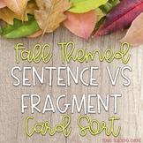 Fall Sentence vs Fragment Card Sort
