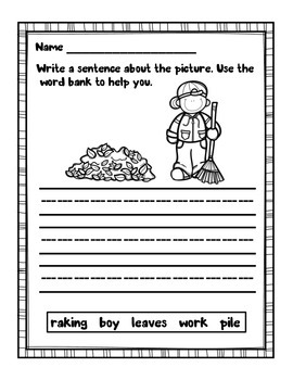 Sentence Writing - Fall