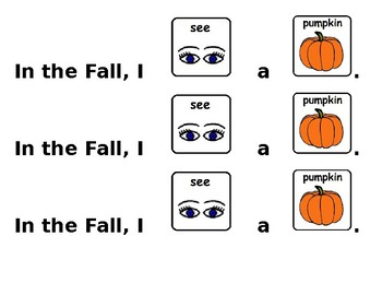 Fall Sentences (Core Vocabulary)