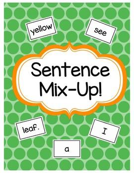 Fall Sentences Mix-Up