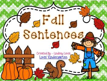 Fall Sentences  {Pocket Chart Stations}