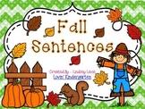 Fall Sentences  {Pocket Chart Stations}