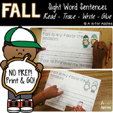 Fall Sentences {Read-Trace-Write-Glue}