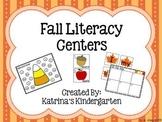 Fall {September & October} Literacy Centers