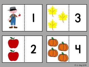 Fall {September & October} Math Centers