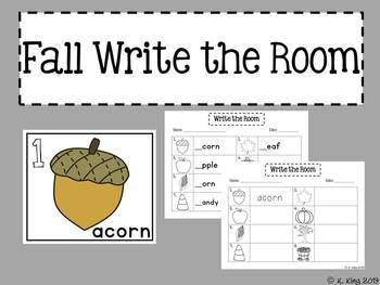 Fall {September & October} Math and Literacy Centers *Bundled*
