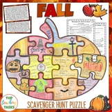 Fall September Scavenger Hunt Puzzle and Response Sheets