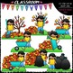 Fall Sequence Clip Art & B&W Bundle 1 (3 Sets)