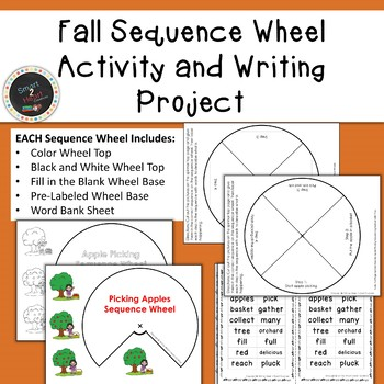 Fall Sequence Wheel Activity and Differentiated Writing Project or Center