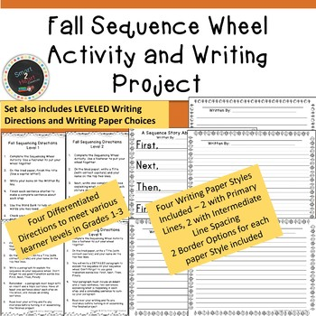 Fall Sequence Wheel Activity and Differentiated Writing Project