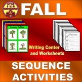 Fall Sequencing Activities Differentiated Writing Center a