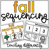 Fall Sequencing Activities (Sequencing Mats, Cut & Paste, & Drawing Pages)