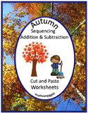 Fall Cut and Paste Math Activities Fine Motor Skills