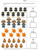 Fall Sequencing,Cut and Paste Printables Addition, Subtraction,