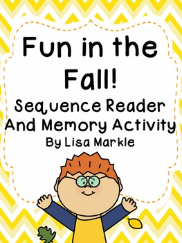 Fall Sequencing Emergent Reader and Memory Cards for Presc
