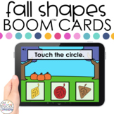 Fall Shape Identification Boom™ Cards - Distance Learning